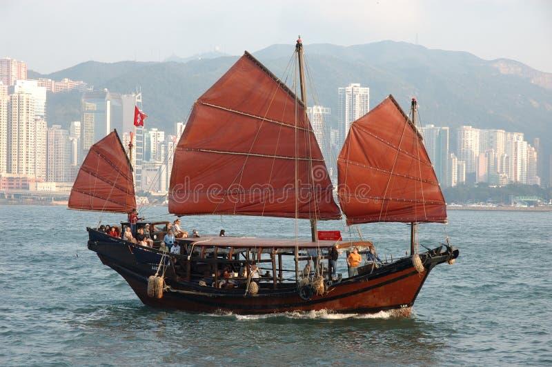 китайский корабль sailing стоковая фотография rf