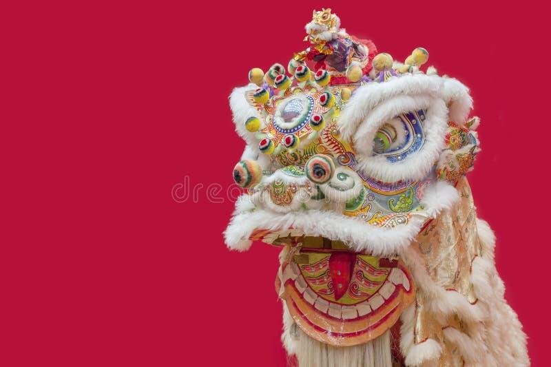 Китайский костюм танца льва стоковые изображения