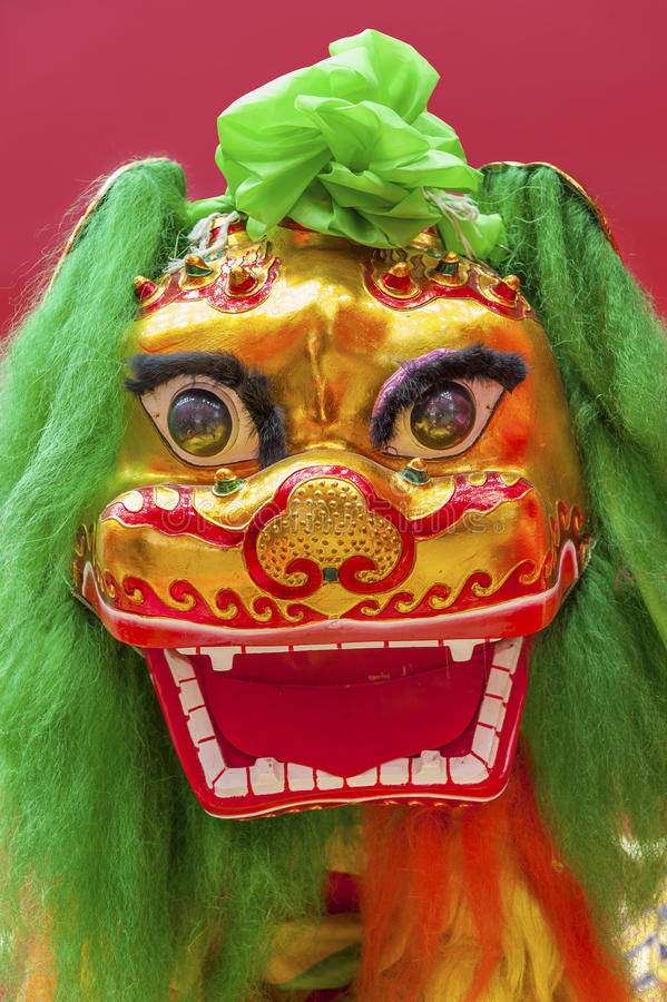 Китайский костюм льва стоковая фотография rf