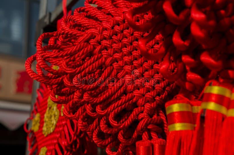китайский красный цвет узла стоковое изображение rf