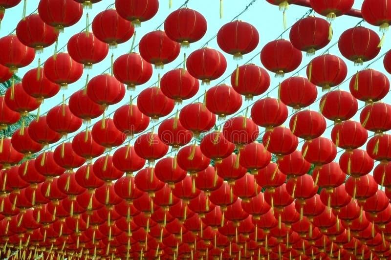 китайский красный цвет фонарика стоковые фотографии rf