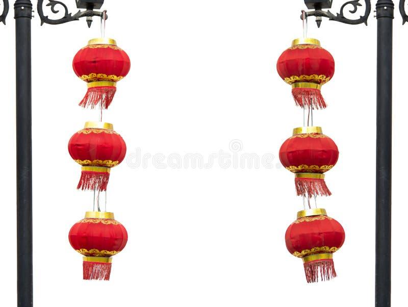 китайский красный цвет 2 фонарика групп стоковое изображение rf
