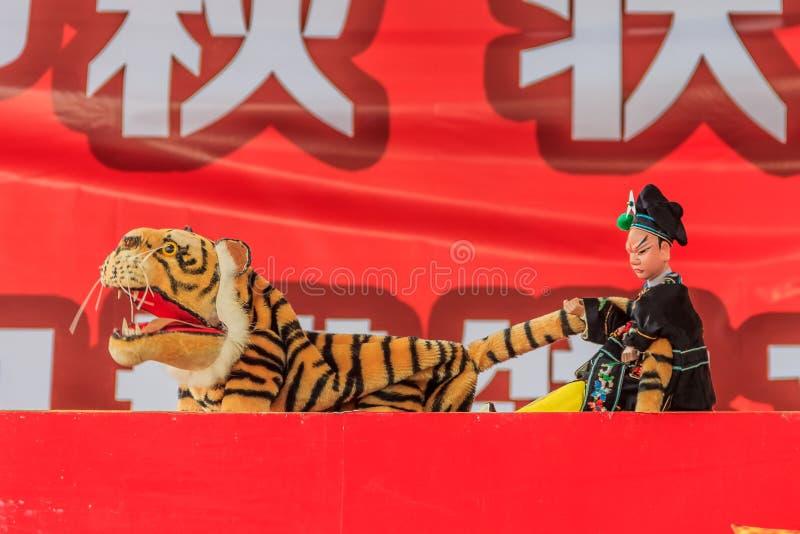 Китайский кукольный театр руки стоковая фотография