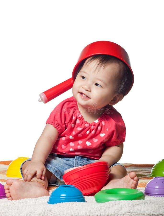 китайский малыш девушки стоковые фотографии rf