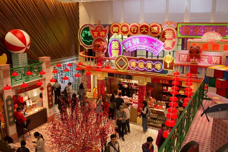 Китайский Новый Год в Гонконге стоковые фото