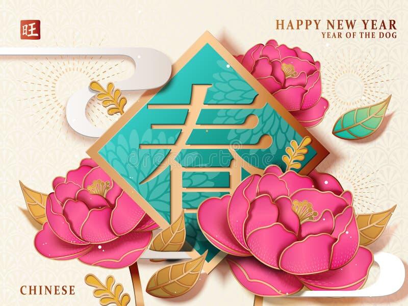 китайский новый год плаката бесплатная иллюстрация