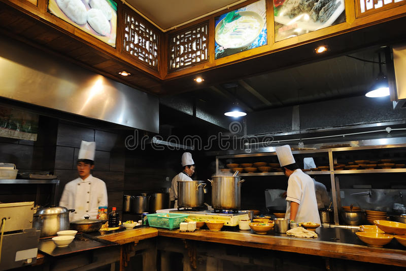 китайский нутряной ресторан традиционный стоковое фото