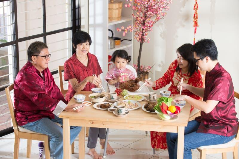 Китайский обедающий реюньона Нового Года стоковые изображения rf