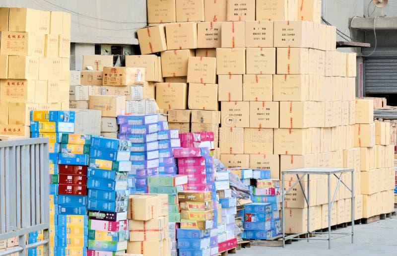 китайский пакгауз продуктов стоковая фотография rf