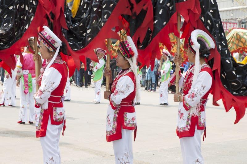 китайский парад дракона стоковые изображения
