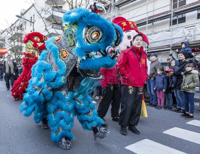 Китайский парад Нового Года - год собаки 2018 стоковые изображения rf