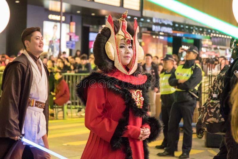 Китайский парад ночи Нового Года стоковое изображение