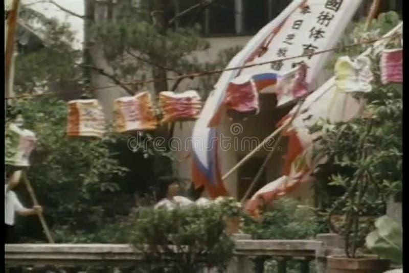 китайский парад сток-видео
