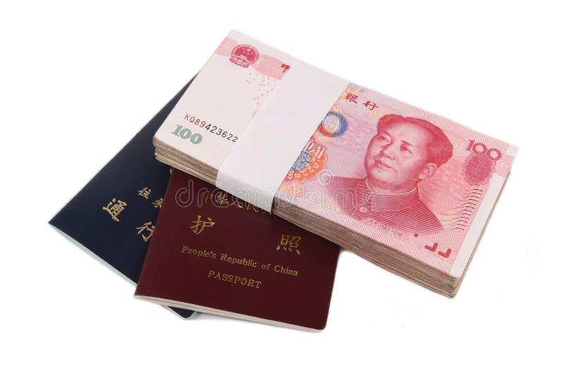 китайский пасспорт дег стоковая фотография