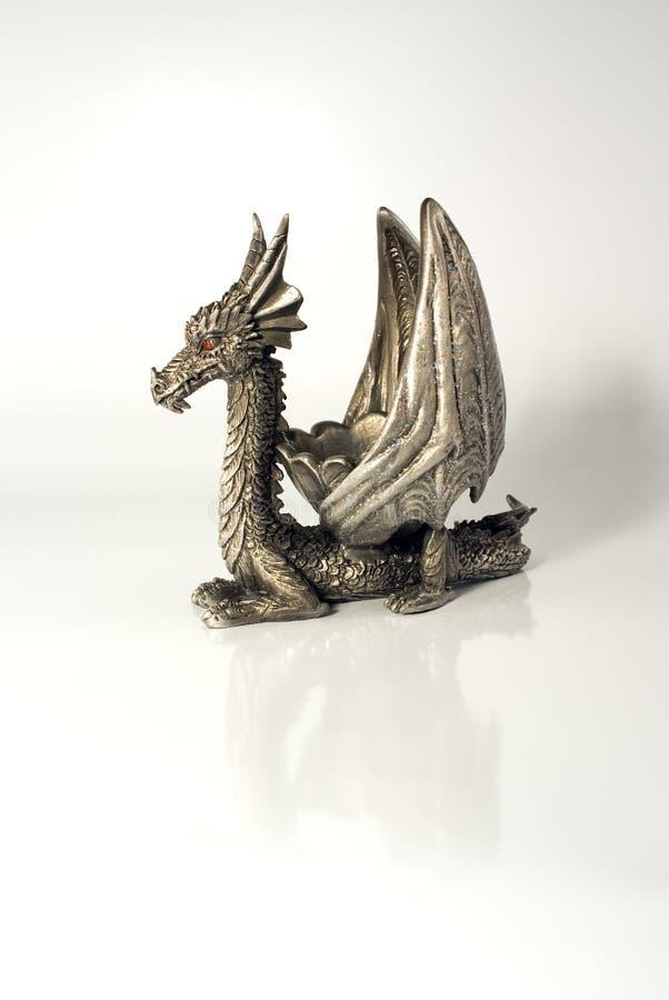 китайский певтер дракона стоковые фото