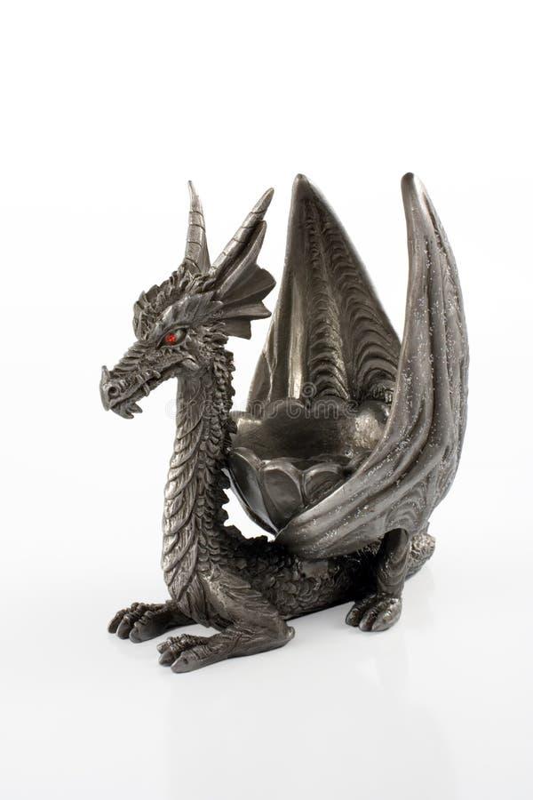 китайский певтер дракона стоковая фотография rf