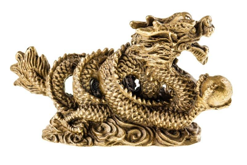 китайский дракон золотистый стоковые фотографии rf