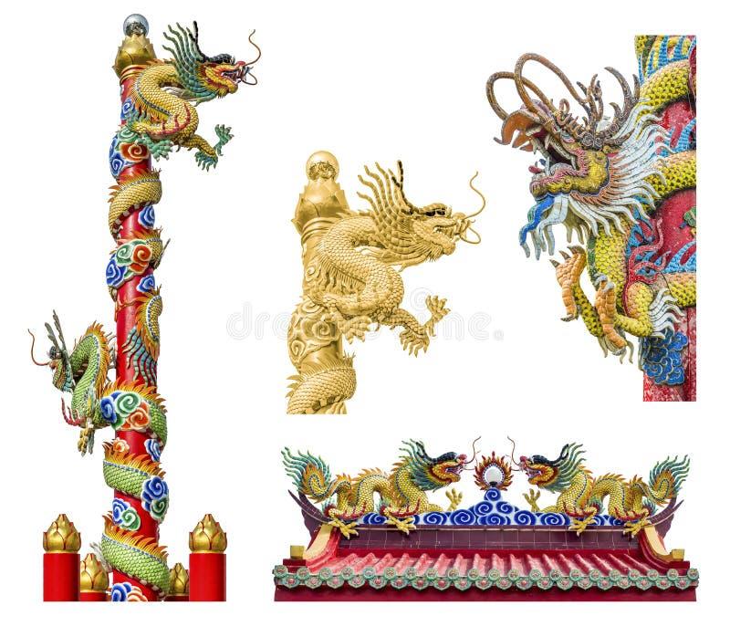 Китайский дракон на ploe стоковые фото