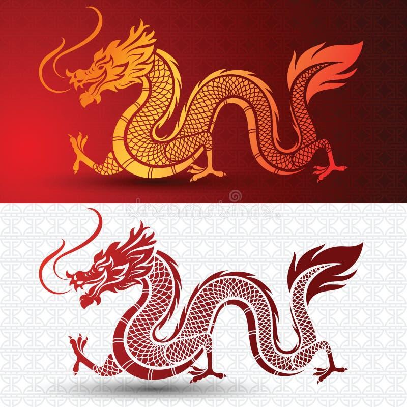 китайский дракон иллюстрация штока