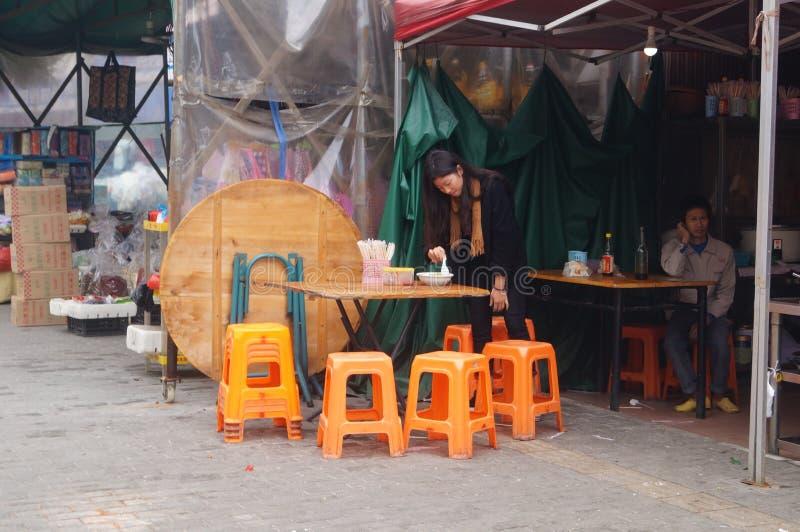Китайский ресторан лапши стоковое фото