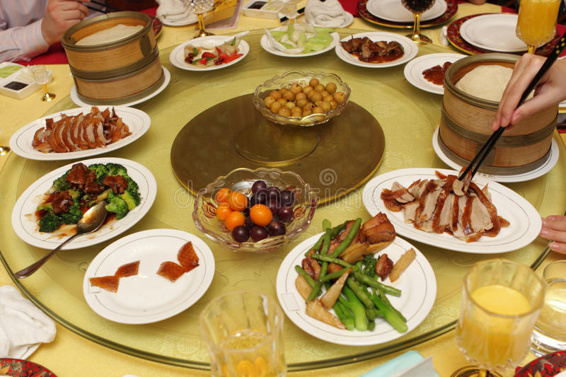китайский ресторан обеда стоковые фото