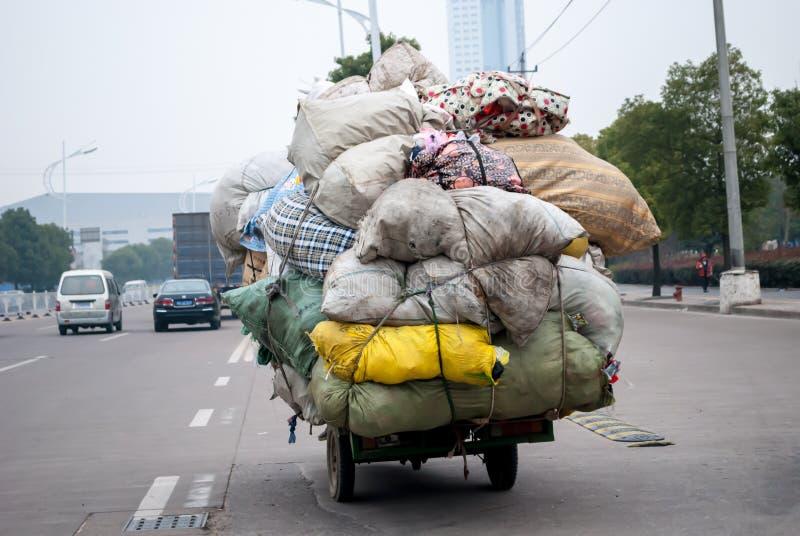 Китайский рециркулируя торговец стоковое изображение rf