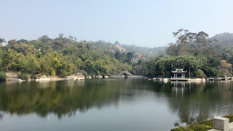 Китайский сад в ботаническом саде стоковая фотография rf