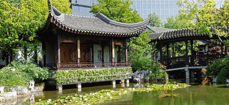 китайский сад Орегон portland стоковые фотографии rf