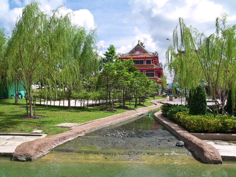китайский сад стоковое фото