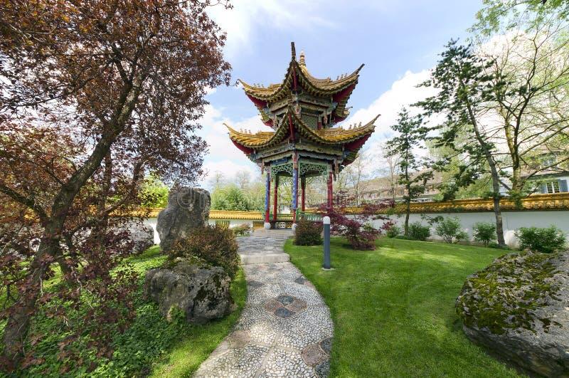 Китайский сад в Цюрихе, Швейцарии стоковое изображение