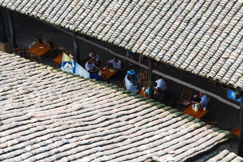 Китайский старый дом стоковое фото rf