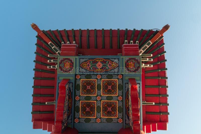 Китайский строб к Чайна-тауну стоковое фото