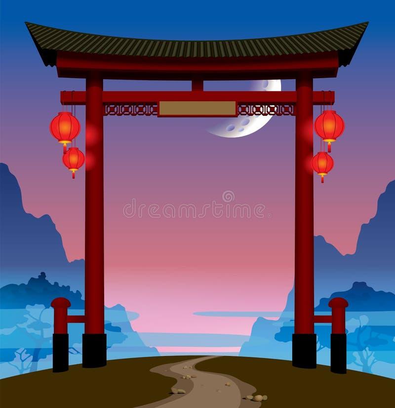 Китайский строб бесплатная иллюстрация