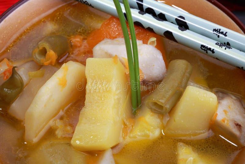 китайский суп стоковая фотография