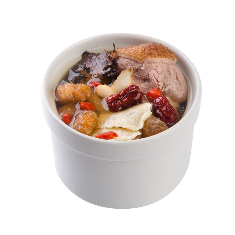 китайский тип супа бака травы еды утки стоковая фотография rf
