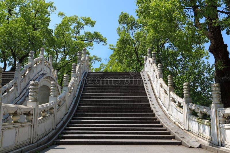 Китайский традиционный каменный мост свода стоковое изображение