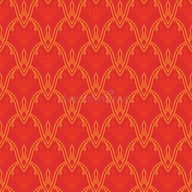 Китайский традиционный орнамент праздника иллюстрация вектора