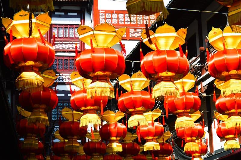 Китайский фестиваль лампы столба стоковые изображения rf