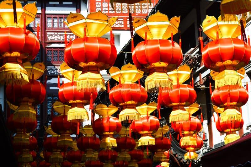 Китайский фестиваль лампы столба стоковые фото