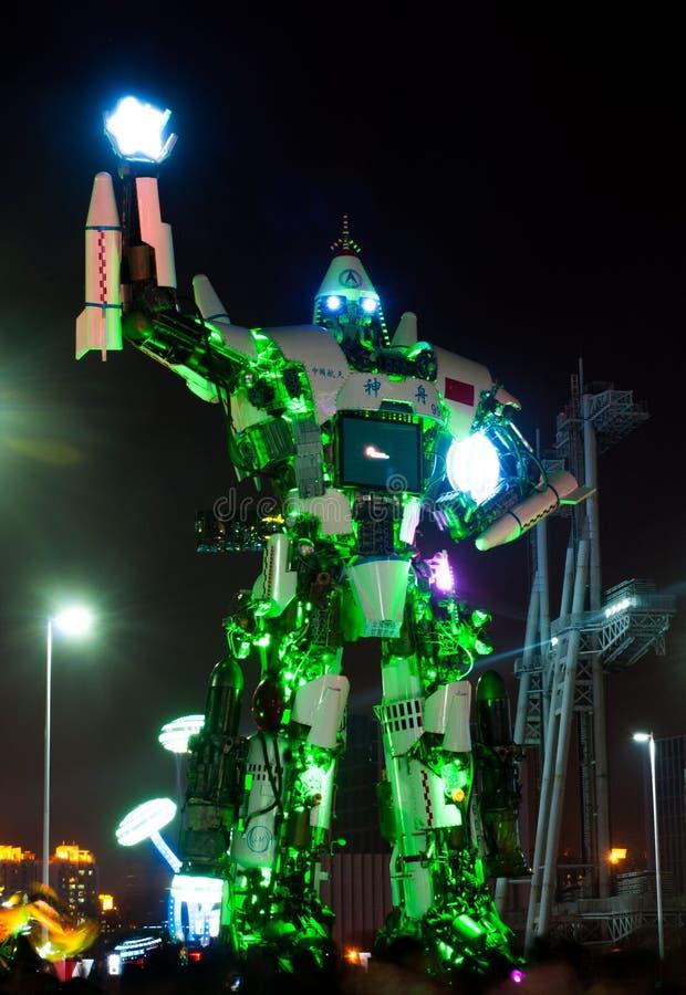 Китайский фестиваль огней в Гуанчжоу стоковые фото