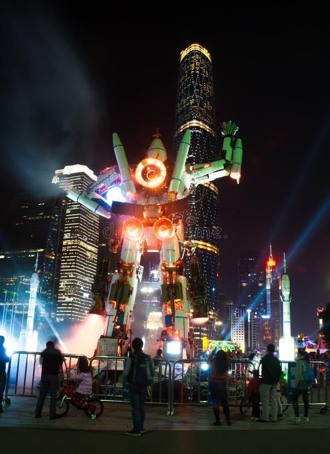 Китайский фестиваль огней в Гуанчжоу стоковое фото rf