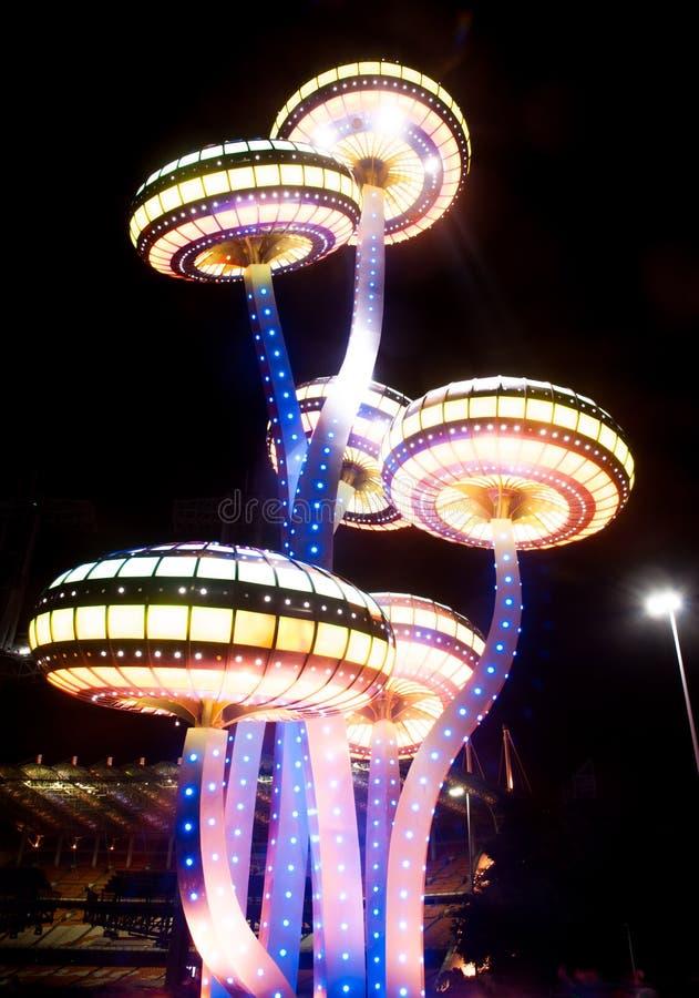 Китайский фестиваль огней в Гуанчжоу стоковое изображение rf