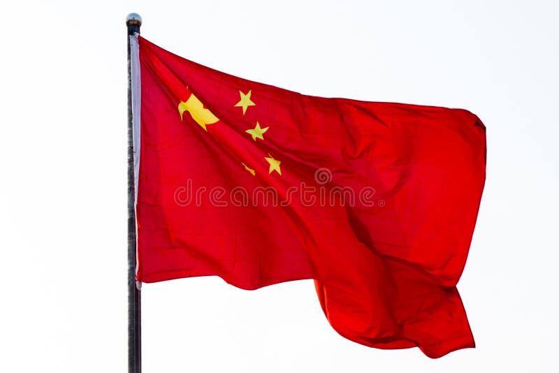 Китайский флаг стоковая фотография