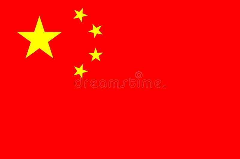 китайский флаг иллюстрация вектора