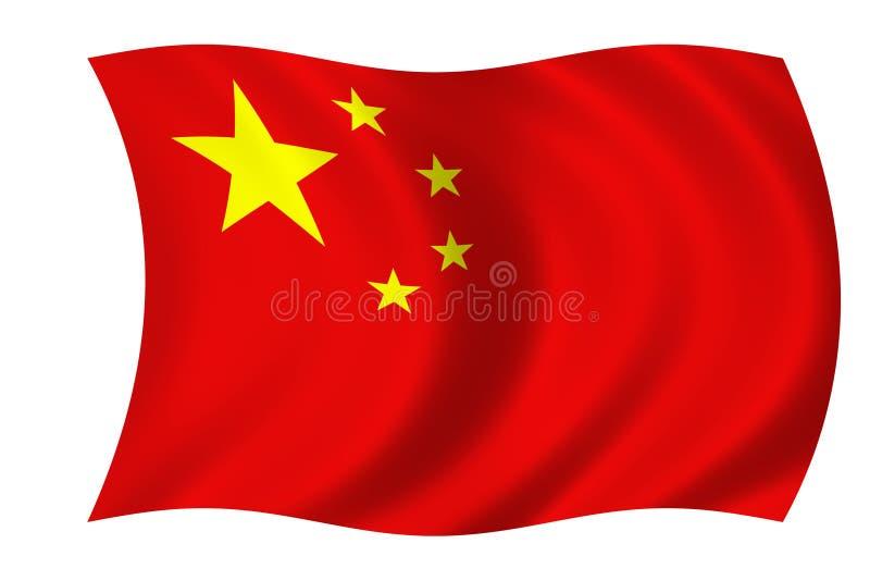 китайский флаг иллюстрация штока