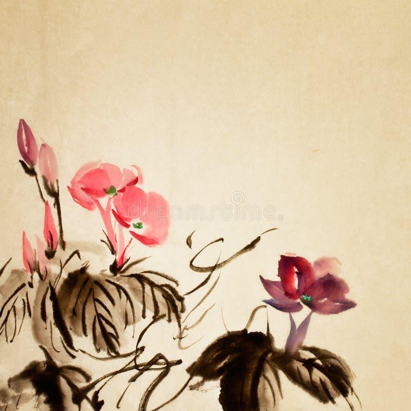китайский цветок иллюстрация вектора