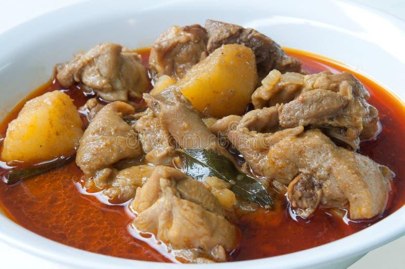 Китайский цыпленок карри стоковое изображение
