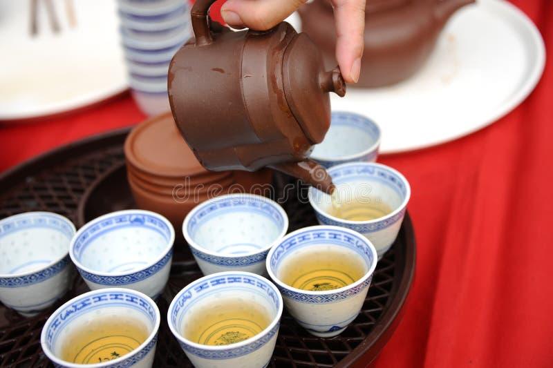 китайский чайник чая стоковые фото