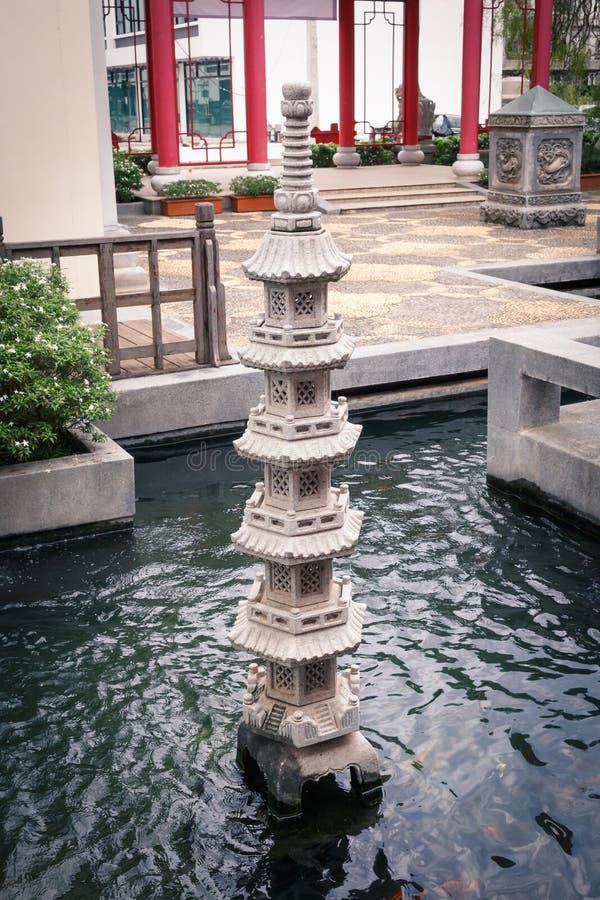 Китайский штендер в бассейне стоковое изображение rf