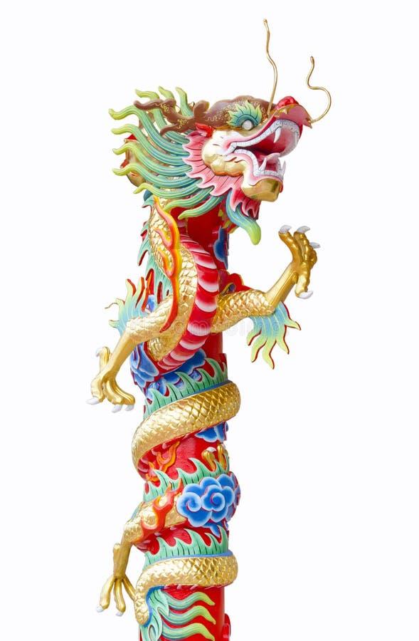 Китайский штендер скульптуры дракона стоковые изображения